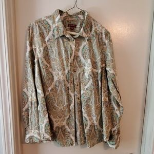 XXL paisley button down